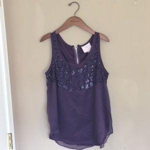 🌴 3/$15 ROMEO & JULIET COUTURE Purple Sparkle Top